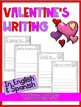 Valentine's Writing (Bilingual)