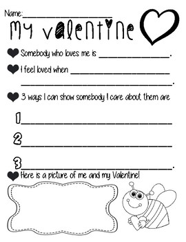 Valentine's Writing FREEBIE