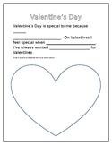 Valentine's Writing Template