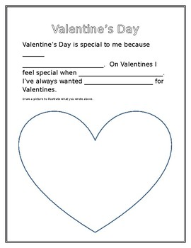 Valentine's Writing Template