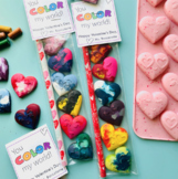 """Valentine's - """"You Color My World"""" - Crayon Gift Tags (Editable) #dollardeal"""