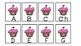 Valentine's cupcake ABC order center activity Spanish&English-Abecedario español