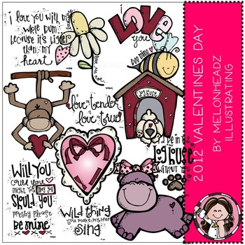 Valentine's day 2012 clip art - COMBO PACK - by Melonheadz