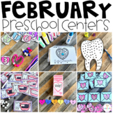 Valentine's Day (February) Math and Literacy Centers for Preschool
