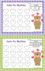 Valentine's day Musical coloring worksheets