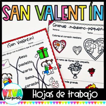 Valentine's day No Prep Activities in Spanish