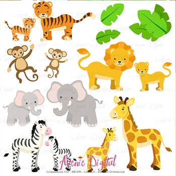 photograph relating to Printable Clip Art identify Lovely Safari Clipart Sbook printables, child wild pets clip artwork mounted