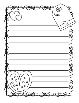 Valentine's Day Writing Templates