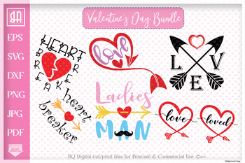 Valentine's day bundle SVG, Valentine's day designs Bundle SVG