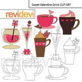 Valentine's day clip art: coffee and cocktail (drink)