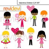 Valentine's day clipart: Valentine children clip art