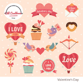 Valentine's day clipart, heart clipart, valentines image,