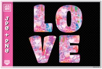 Valentine's day letter set, Valentine's Alphabet 26 letters, Valentines ABC set