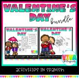 Valentine's day spanish activities bundle