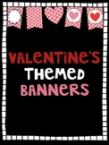 Valentine's themed banners
