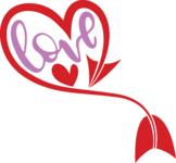 Love heart and arrow svg - Valentine Svg - Valentine heart