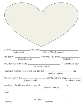 Valentine silly letter