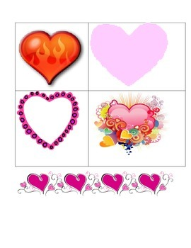 Valentine craft:  heart spinner using rubber bands