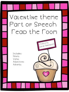 Valentine themed parts of speech read the room