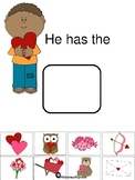 Valentine themes subject pronoun has/have activity