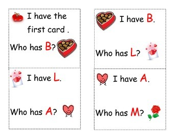 Valentine's Day who has letters