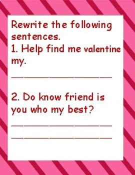 Valentine word play