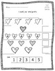 Valentine worksheet - Count, cut and paste 1-10 - #TeachersLoveTeachers