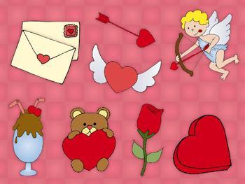 Valentine write in clip art