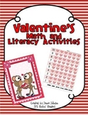 Valentine/February Math and Literacy Centers