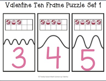 ValentineTen Frame Self-Checking Puzzles