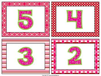 Valentine's Day Math Center 10-Frame Match Numbers 0-20