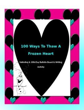 Valentines & 100s Day Activity