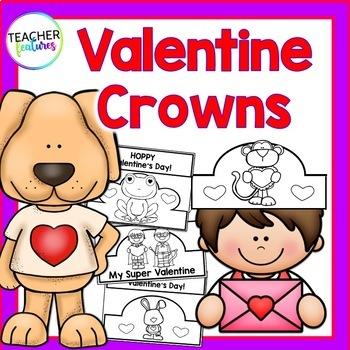 Valentines Day Crowns | Kindergarten Crowns