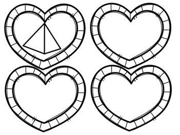 Valentines 3D Shape Sort Math Center