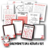 Valentines Activity Bundle - Soduko, Bingo, Coloring, Writ