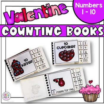 Valentines Day Counting Adapted Books for Special Education