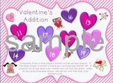 Valentines Addition Facts Game