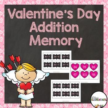 Valentine's Day Addition Memory