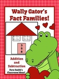 St Valentine's Day Add and Subtract Fact Families Center Game and Printables
