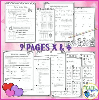 Valentines Algebraic Reasoning Packet