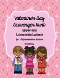 Valentine's Alphabet Scavenger Hunt: Upper and Lowercase, Center & Printables