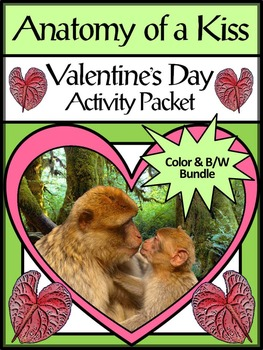 Valentine's Day Activities: Anatomy of a Kiss Valentine's Day Activity Packet