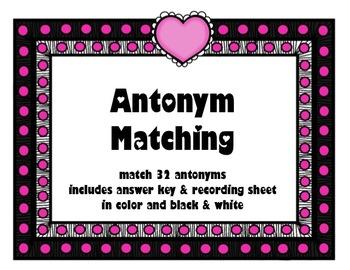 Valentine's Antonym Matching