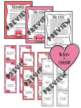 Valentines Antonyms and Synonyms Games