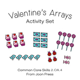 Valentine Arrays Math Activity Set (Grades 2 and 3) Common Core
