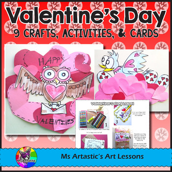 Valentine's Crafts, Activities, and Cards