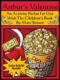 Valentine's Day Activities: Arthur's Valentine Activity Packet Bundle - Color&BW
