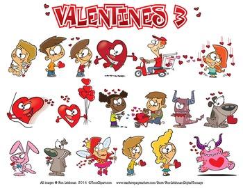 Valentines BUNDLE Cartoon Clipart