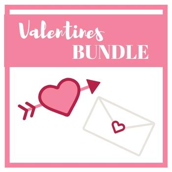 Valentines BUNDLE - Math, language arts, reading, and more!