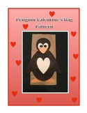 Valentine's Day Bag Penguin Pattern